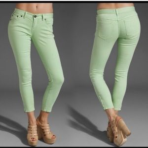Free People Millennium Lime Green Crop Jean